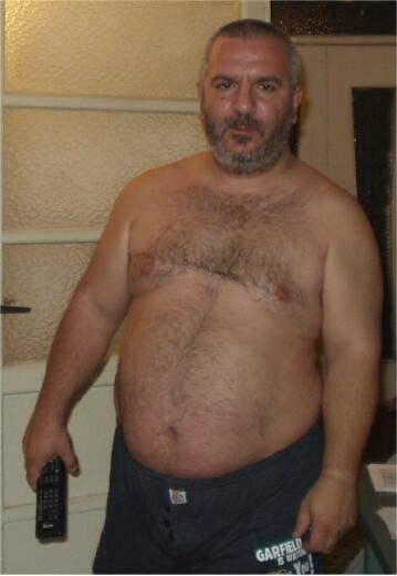 Chubby Hairy Naked Man